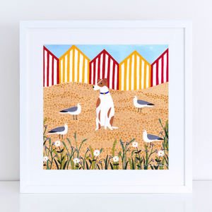 Fox Terrier Surrounded Art Print