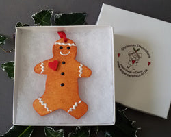 Gingy Ceramic Christmas Decoration