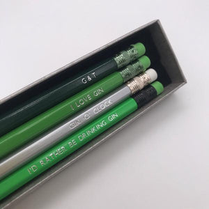 Gin Lover's Pencil Set