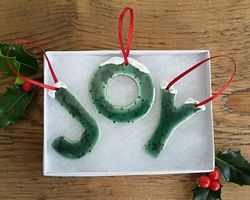 JOY Ceramic Christmas Decorations