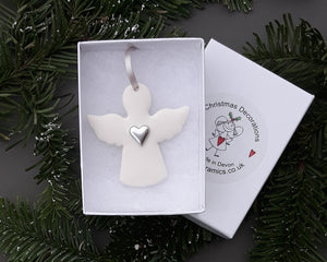 Angel Ceramic Christmas Decoration - Colour Options available