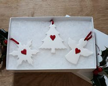 Load image into Gallery viewer, Set of Mixed Ceramic Christmas Decorations - Colour Options available