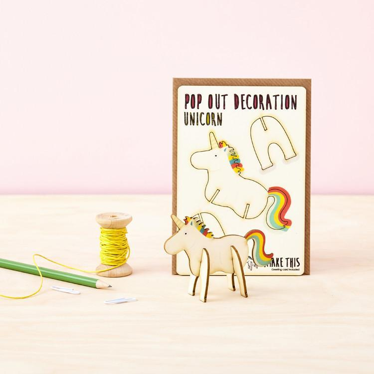 Pop Out Card - UNICORN