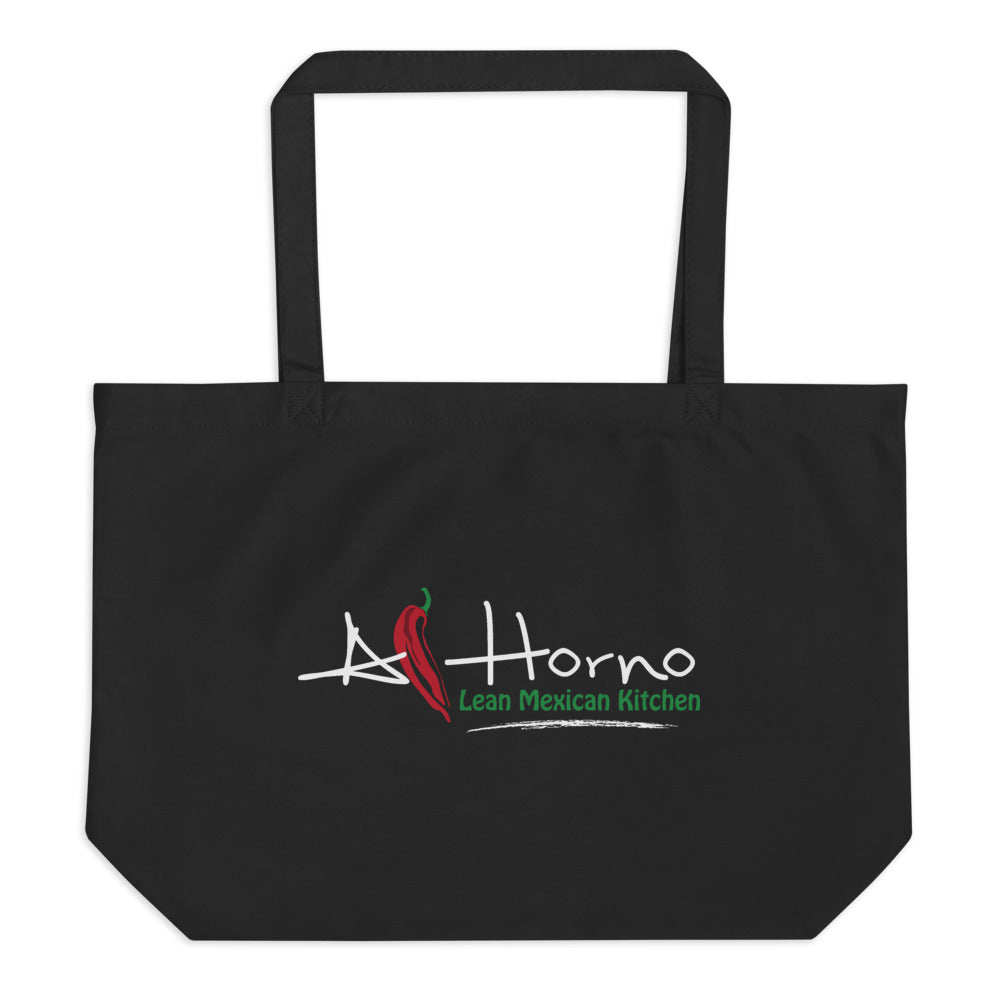 Large organic tote bag (White w Colors)