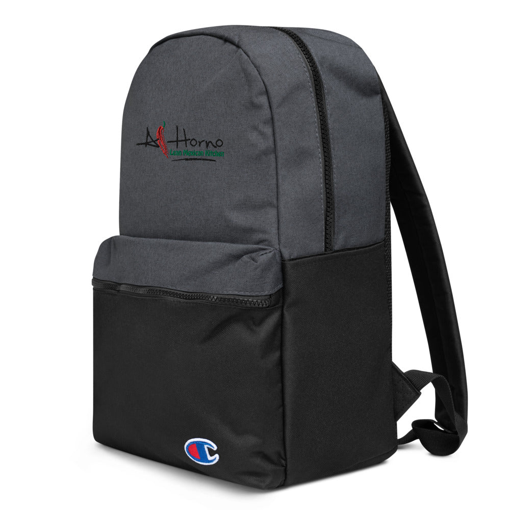 Embroidered Champion Backpack (Black w Colors)
