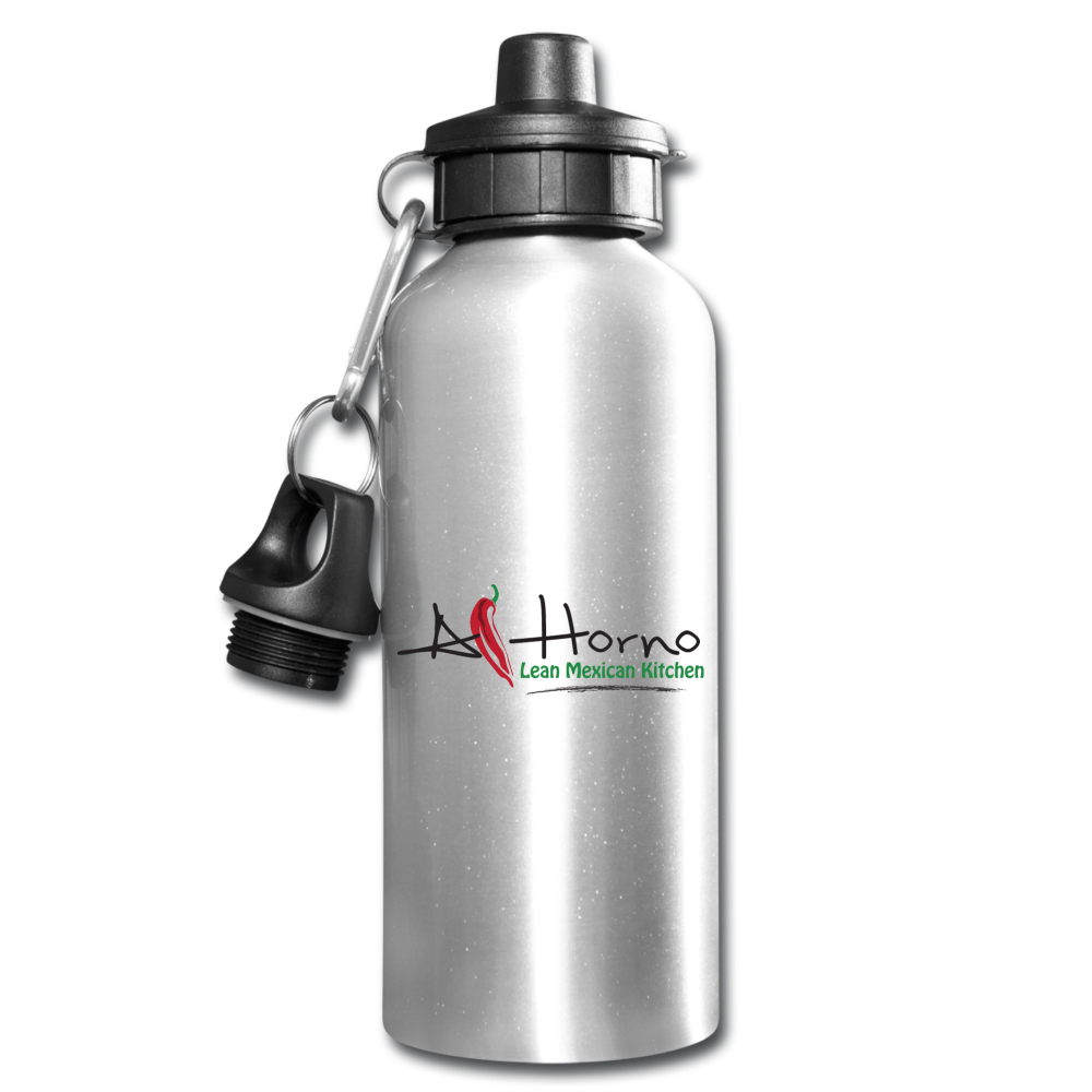 Water Bottle (Black w Colors) - silver