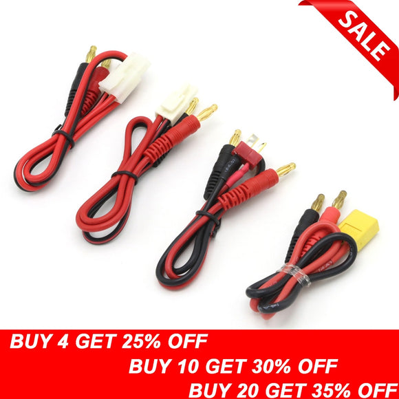 1pcs RC Connector Cable T plug Deans Connector to Banana Tamiya Plug to Banana for IMAX B6 B6AC B8 Chargers