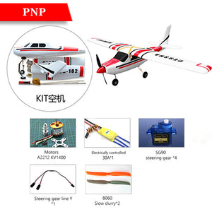 Cessna HJW182 1200mm Wingspan EPO Trainer Beginner RC Airplane Kit  For RC Models Remote Control Toys
