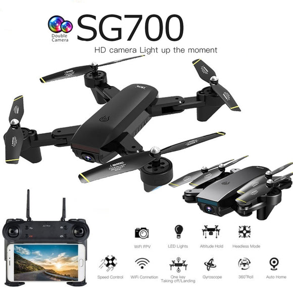 SG700D quadcopter dron drones with camera hd mini drone rc helicopter toys profissional drohne com camera quadrocopter racing