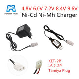 4.8V 6.0V 7.2V 8.4V 9.6V Charger for NiCd NiMH battery Input 100V-240V with Tamiya Kep-2p