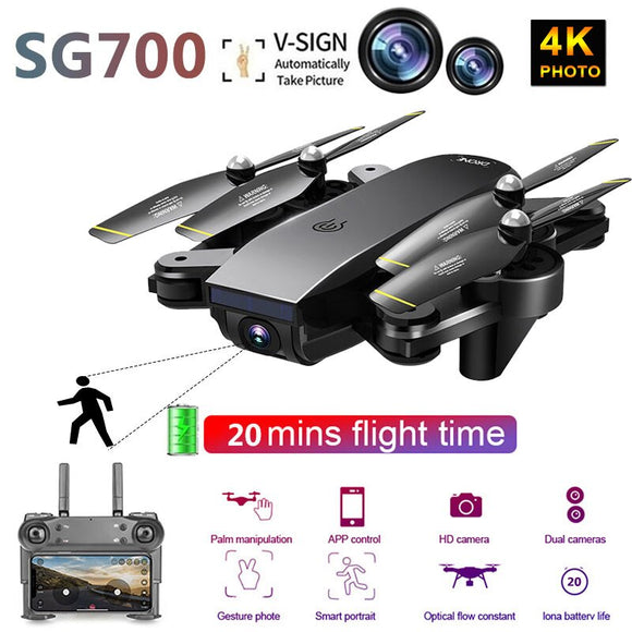 SG700D Quadcopter Drones 4K with Camera HD RC Helicopter profissional drohne com camera quadrocopter racing gimbal mini dron toy