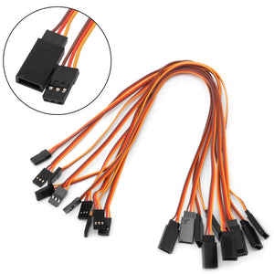 10Pcs 150 / 200 / 300 / 500mm Servo Extension Lead Wire Cable For RC Futaba JR Male to Female