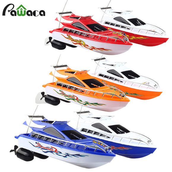 Rc Boat For Mini Kids Rc Remote Control Speed Boats Toy Racing Model 2.4GHZ Four-channel