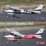 FMS RC Airplane 1400mm Cessna 182 V2 Trainer 5CH with Flaps 3S Blue Red PNP RC Plane
