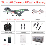 RC Airplane Plane Z51 with 2MP HD Camera or No Camera 20 Minutes Fligt Time