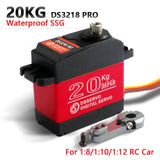 1 X Waterproof servo DS3218 Update and PRO high speed metal gear digital servo baja servo 20KG/.09S for 1/8 1/10 Scale RC Cars