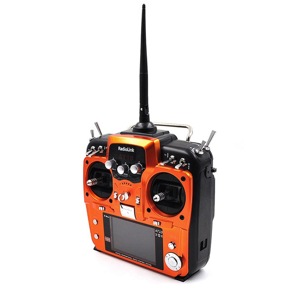 RadioLink AT10 II 2.4Ghz 12CH RC Transmitter with R12DS Receiver PRM-01 Voltage Return Module Battery for RC Quadcopte