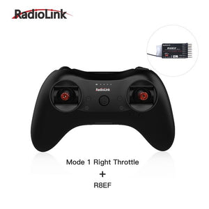 Radiolink T8S 8CH Radio Controller Transmitter 2.4G and R8EF or R8FM Receiver Handle Gamepad for Fixed Wing FPV Drone Airplane