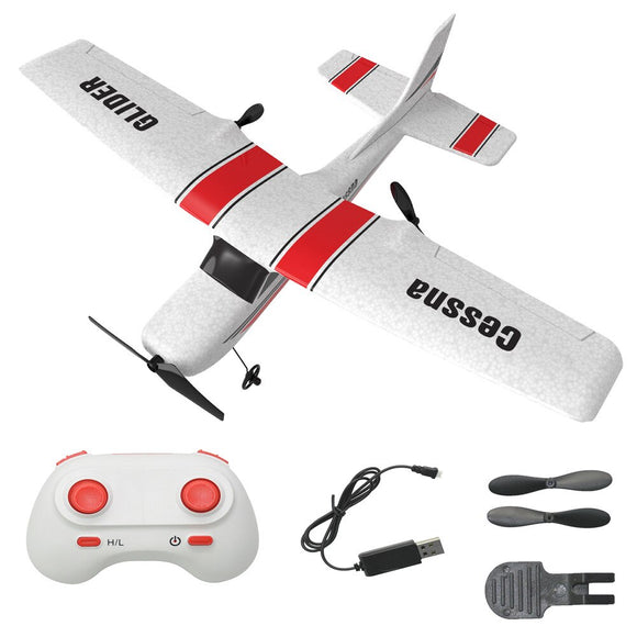 RC Plane EPP Foam Glider RC Airplane Gyro 2.4G Remote Control Wingspan Cessna 182T Outdoor Fixed Wing Aircraft Toys for children
