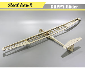 RC Plane Laser Cut Balsa Wood Airplane Kit  Wingspan 1040mm GUPPY