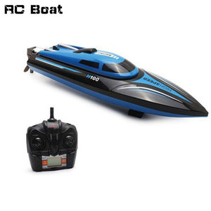 High Speed RC Boat H100 2.4GHz 4 Channel 30km/h Racing Remote Control Boat with LCD