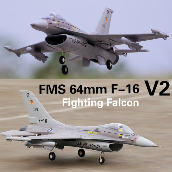 FMS 64mm F16 F-16 V2 Vigilantes Ducted Fan EDF Jet Grey EPO Scale RC Airplane Fighter Model