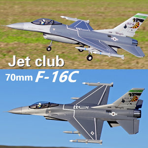 FMS 70mm F16 F-16C Fighting Falcon V2 Ducted Fan EDF Jet 6S 6CH With Flaps Retracts PNP EPO RC Airplane Model Plane Aircraft