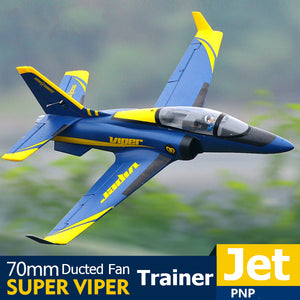 FMS RC Airplane 70mm Super Viper Ducted Fan EDF Jet Trainer 6S 6CH with Retracts Flaps PNP EPO