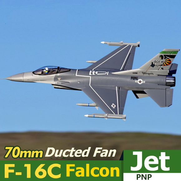 FMS RC Airplane 70mm F16 F-16C Fighting Falcon V2 Ducted Fan EDF Jet Scale Model Plane Aircraft Avion PNP 6S with Retracts EPO