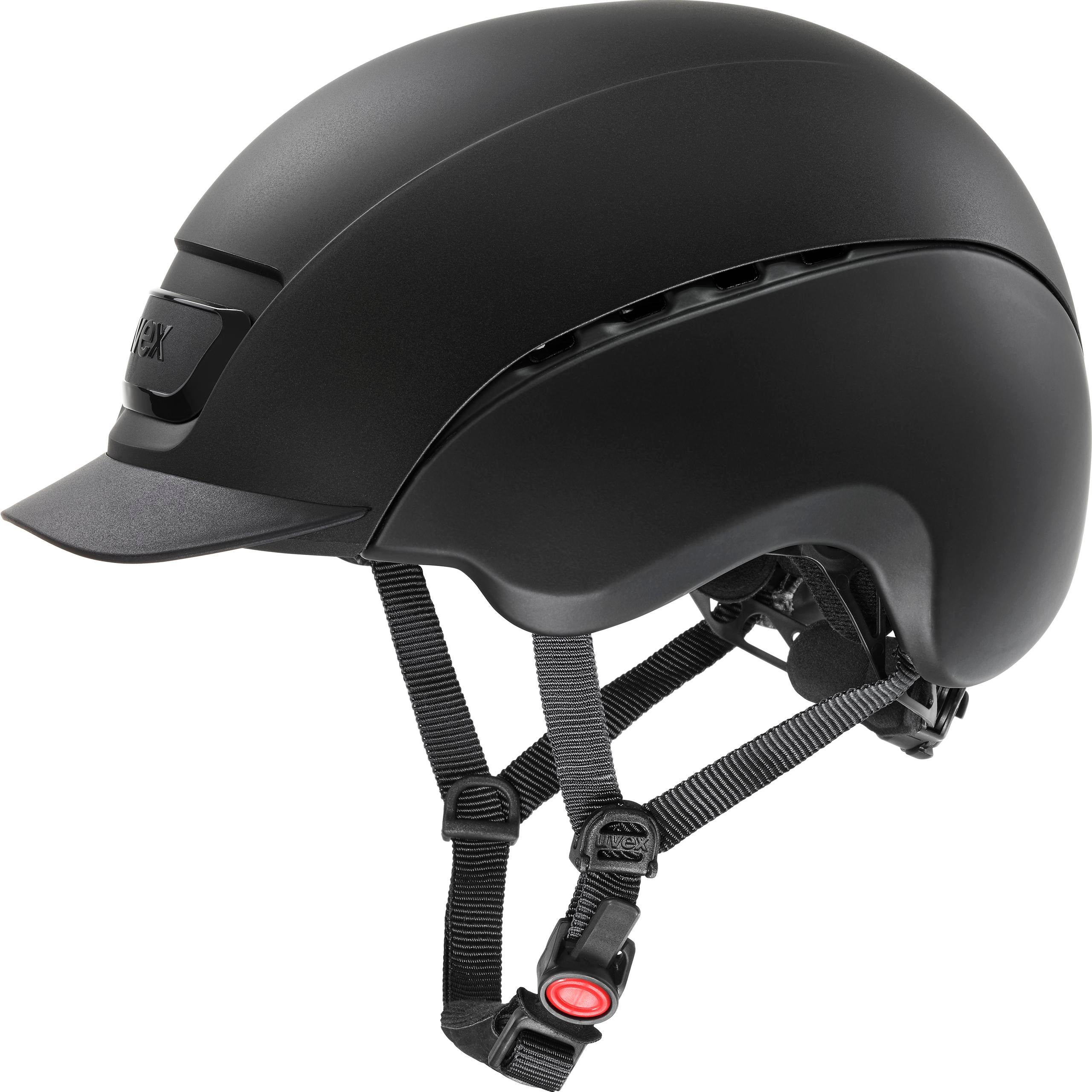 Black Matt Uvex Elexxion Plus Riding Helmet
