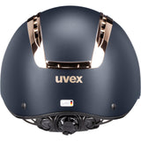 Matt Navy Coral Uvex Suxxeed Chrome Riding Helmet Back view