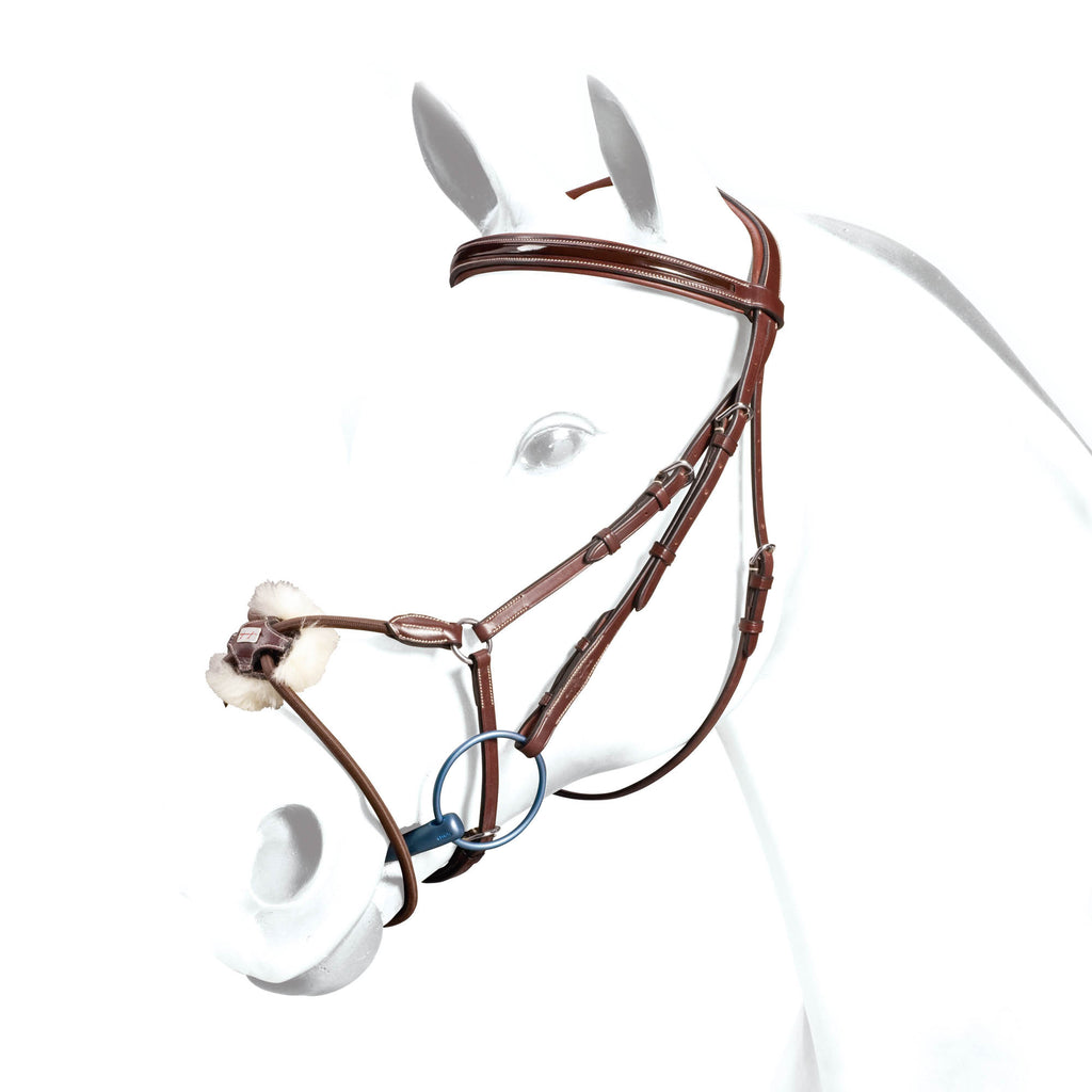 Fair Price Equestrian | Equipe Grackle Bridle No Stress Patent Browband Elastic Noseband BR34