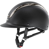 Matt Black Metal Black Uvex Suxxeed Chrome Riding Helmet