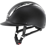 Matt Black Silver Uvex Suxxeed Chrome Riding Helmet