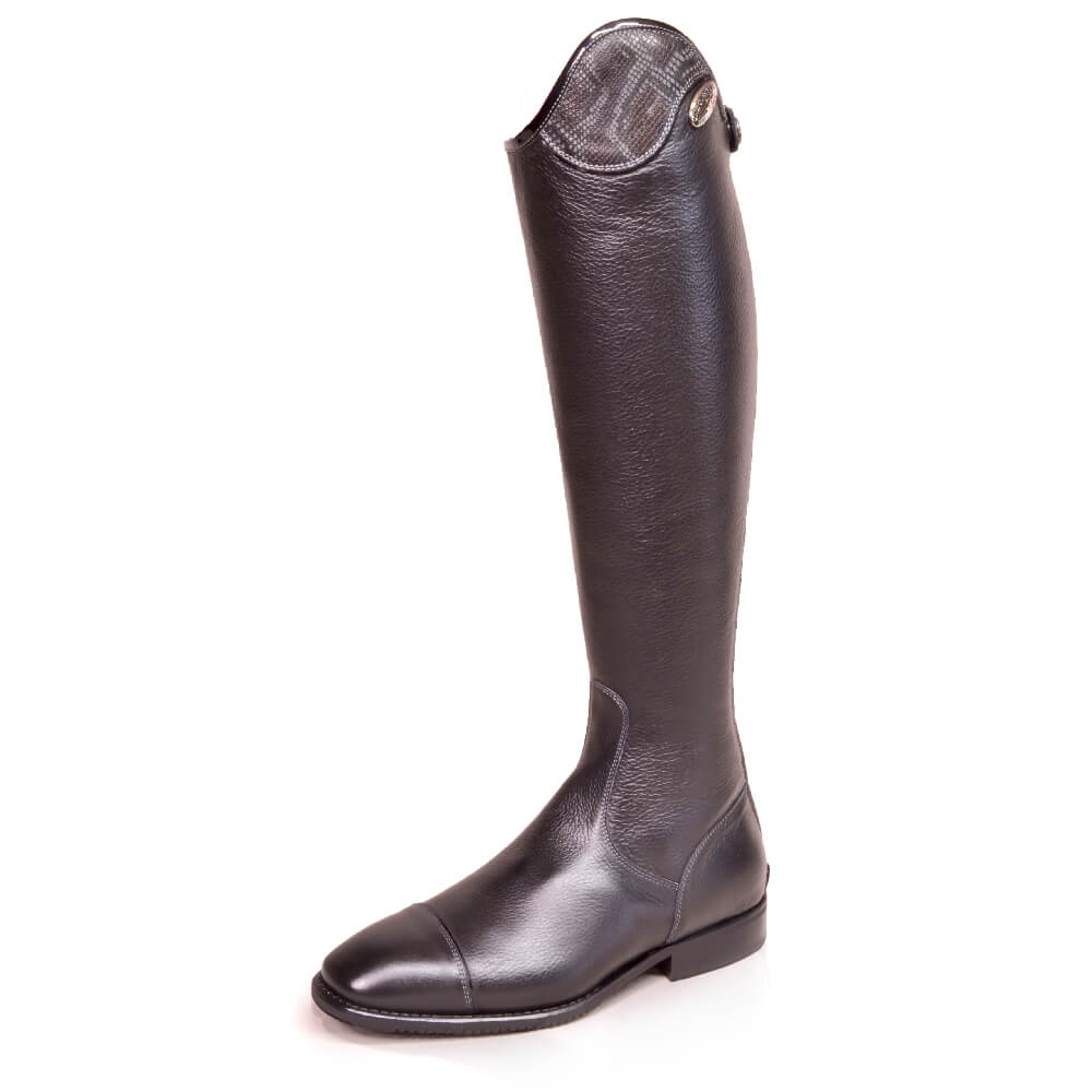 De Niro Salentino Riding Boots with Bolgheri Black Snakeskin