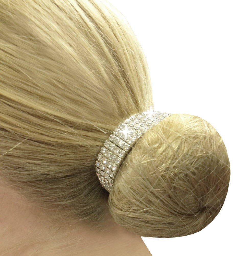 Fair Price Equestrian | Equetech Crystal Bun Ring Scrunchie