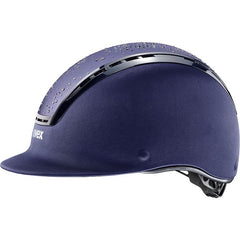 Navy Uvex Suxxeed Diamond Riding Helmet Side Profile