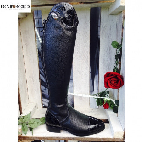 De Niro Salentino Lucidi Black Riding Boots