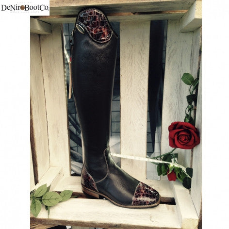 Fair Price Equestrian | De Niro Salentino Lucidi Brown Riding Boots