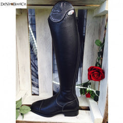 De Niro Salentino Regal Black Riding Boots