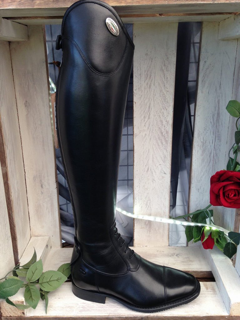 Fair Price Equestrian | De Niro Salento Black Laced Riding Boots