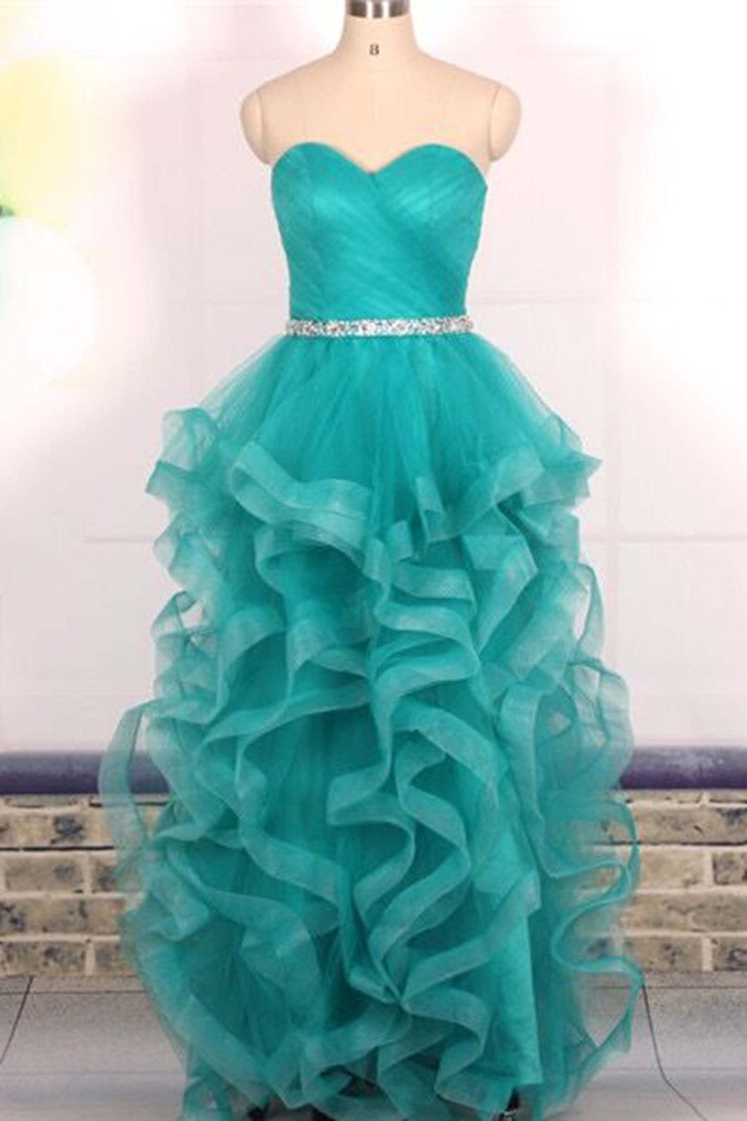 Sweet 16 Dresses | Turquoise organza sequins sweetheart long dresses,evening dresses