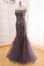 Load image into Gallery viewer, Sweet 16 Dresses | Tulle lace sweetheart long mermaid dresses,long dresses for prom