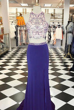 Load image into Gallery viewer, Sweet 16 Dresses | Two pieces round neck sequins beading long dresses,prom dresses