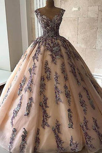 2019 Prom Dresses | 2019 pink tulle sweetheart long A-line customize prom gown, long evening dress with lace applique