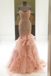 Sweet 16 Dresses | Elegant orange tulle sweetheart mermaid long dresses,evening dresses for teens