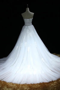 Sweet 16 Dresses | White organza sweetheart lace floor-length  long prom dresses,wedding dresses