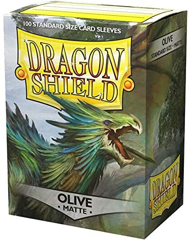 Dragon Shield Matte Olive Green Standard Size 100 ct Card Sleeves