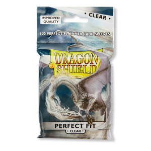 Dragon Shield Perfect Fit Clear Inner Sleeves Standard Size 100 Pack