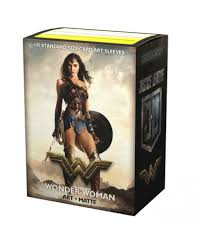 Dragon Shield Justice League Wonder Woman Art Matte 100 Protective Sleeves
